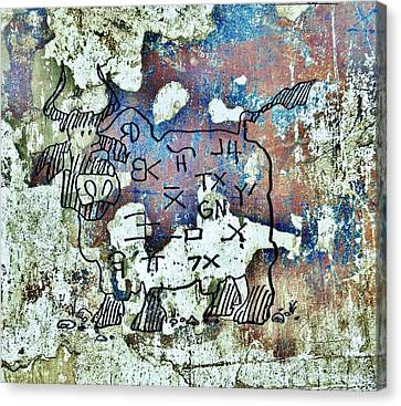 Texas Petroglyph Canvas Print by Larry Campbell