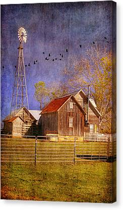 Texas Ranch Canvas Print by Joan Bertucci