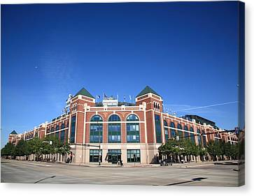 Texas Rangers Ballpark In Arlington Canvas Print by Frank Romeo