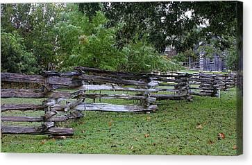 Texas Split Rain Fence Canvas Print by Linda Phelps