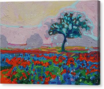 Texas Spring Flowers Oil Painting Bertram Poole Canvas Print