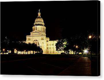 Canvas Print featuring the photograph Texas State Capitol by Dave Files