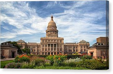 Texas State Capitol II Canvas Print by Joan Carroll