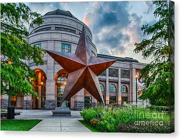 Texas State History Museum Canvas Print by Tod and Cynthia Grubbs
