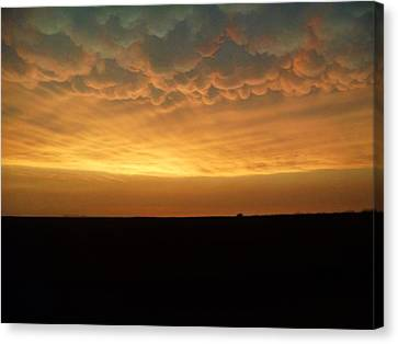 Canvas Print featuring the photograph Texas Sunset by Ed Sweeney