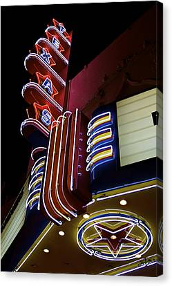 Canvas Print featuring the photograph Texas Theatre Marquee by John Babis