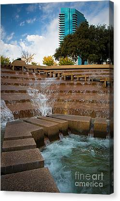 Texas Water Gardens Canvas Print by Inge Johnsson