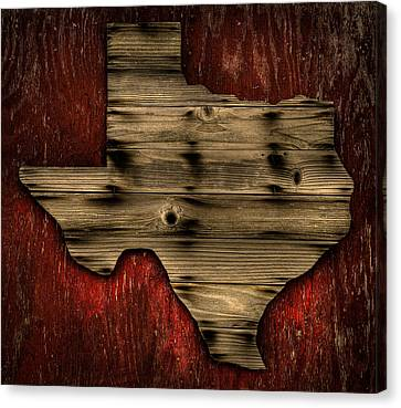 Texas Wood Canvas Print