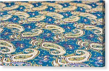 Textile Pattern Canvas Print by Tom Gowanlock