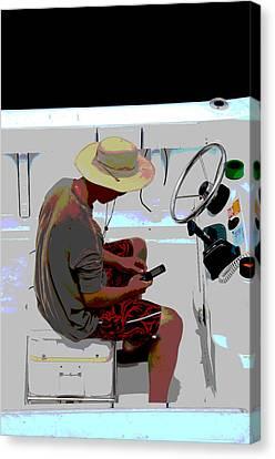 Texting Canvas Print