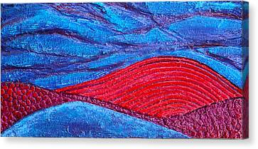 Texture And Color Bas-relief Sculpture #2 Canvas Print by Karen Cade