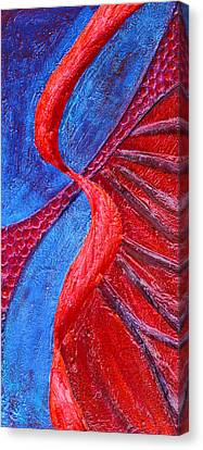 Texture And Color Bas-relief Sculpture #3 Canvas Print by Karen Cade