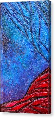 Texture And Color Bas-relief Sculpture #5 Canvas Print by Karen Cade