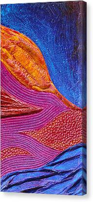 Bas Relief Canvas Print - Texture And Color Bas-relief Sculpture #6 by Karen Cade