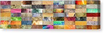 Texture Collage Canvas Print by Taylan Apukovska