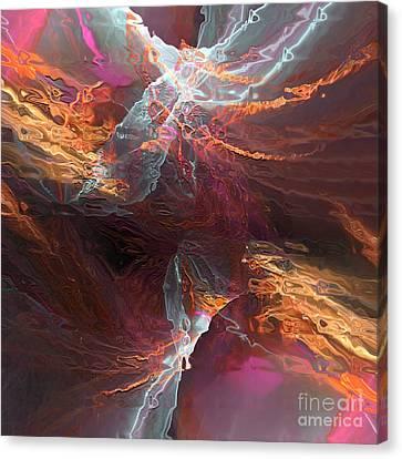 Canvas Print featuring the digital art Texture Splash by Margie Chapman
