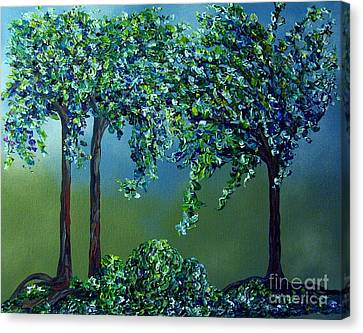 Texture Trees Canvas Print by Eloise Schneider