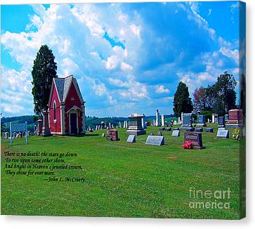Canvas Print featuring the photograph Fryburg Cemetery by Gena Weiser