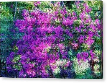 Textured Floral Abstract Canvas Print by Linda Phelps