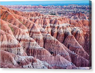 Textured Landscape In Badlands National Canvas Print by James White