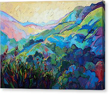 Impressionism Canvas Print - Textured Light by Erin Hanson