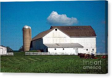 Canvas Print featuring the photograph Textured - Plowing The Field by Gena Weiser