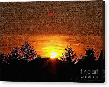 Canvas Print featuring the photograph Textured Rural Sunset by Gena Weiser