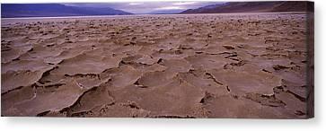 Textured Salt Flats, Death Valley Canvas Print