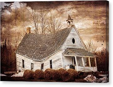 Textured Sway Back School House Canvas Print by Paul Freidlund