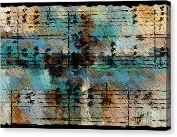Canvas Print featuring the digital art Textured Turquoise by Lon Chaffin