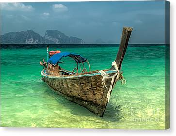 Thai Boat  Canvas Print by Adrian Evans