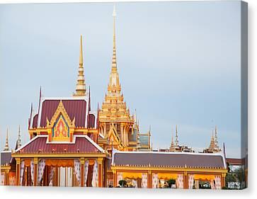 Thai Construction Design. Canvas Print by Vachiraphan Phangphan