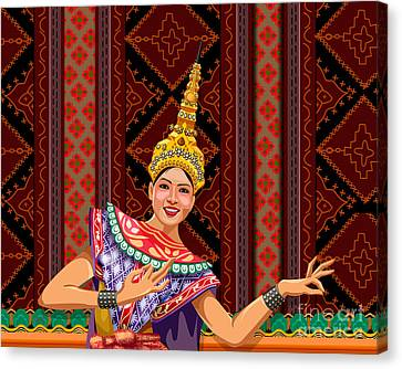 Thai Dancer Canvas Print by Bedros Awak