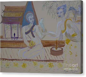 Canvas Print featuring the painting Thailand by Avonelle Kelsey