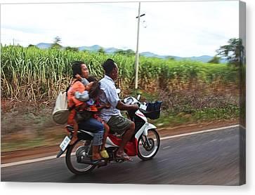 Thailand Transportation - 01131 Canvas Print by DC Photographer