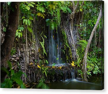 Canvas Print featuring the photograph Thailand Waterfall by Mike Lee