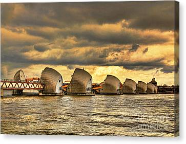 Thames Barrier Canvas Print by Jasna Buncic