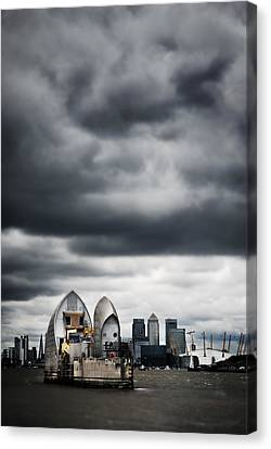 Thames Barrier Canvas Print by Mark Rogan