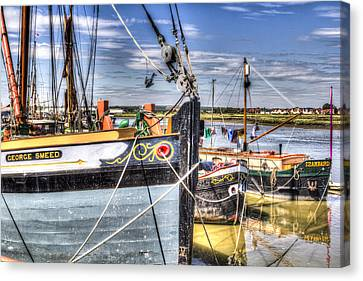 Thames Sailing Barges  Canvas Print by David Pyatt