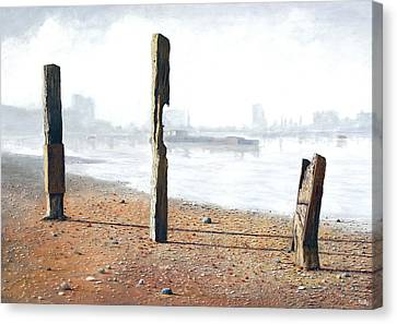 Thames Sentinels Canvas Print
