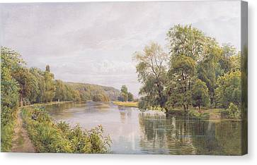 Towpath Canvas Print - Thames by William Bradley