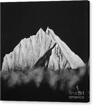 Canvas Print featuring the painting Thamserku  by Rudi Prott