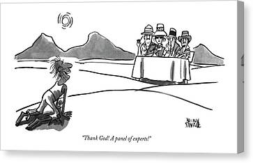 Thank God! A Panel Of Experts! Canvas Print by Brian Savage