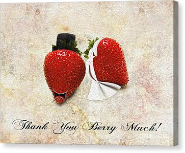 Thank You Berry Much Canvas Print by Andee Design