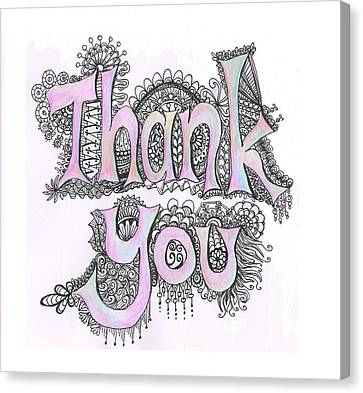 Canvas Print - Thank You by Cherie Sexsmith