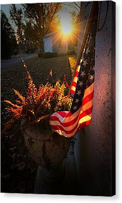 Canvas Print featuring the photograph Thank You For Serving by Robert McCubbin