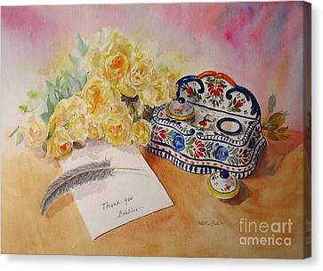 Canvas Print featuring the painting Thank You From Beatrice by Beatrice Cloake