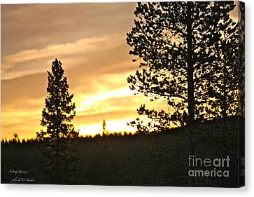 Thank You My Lord For Blessing Me -  Thank You My Lord For A Beautiful Landscape - Amen. Canvas Print by  Andrzej Goszcz