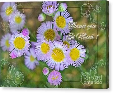 Thank You Sooooo Much  Canvas Print by Debbie Portwood