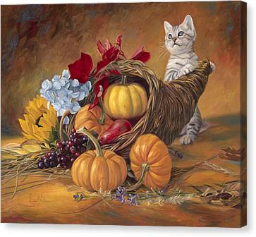 Thankful Canvas Print by Lucie Bilodeau